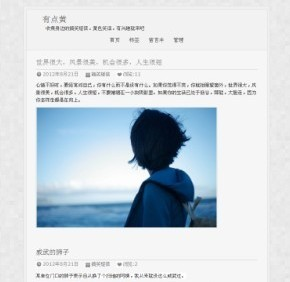 zblog2.0博客模板,udianhuang模板,zblog仿站乐园提供 - 源码下载 -六神源码网