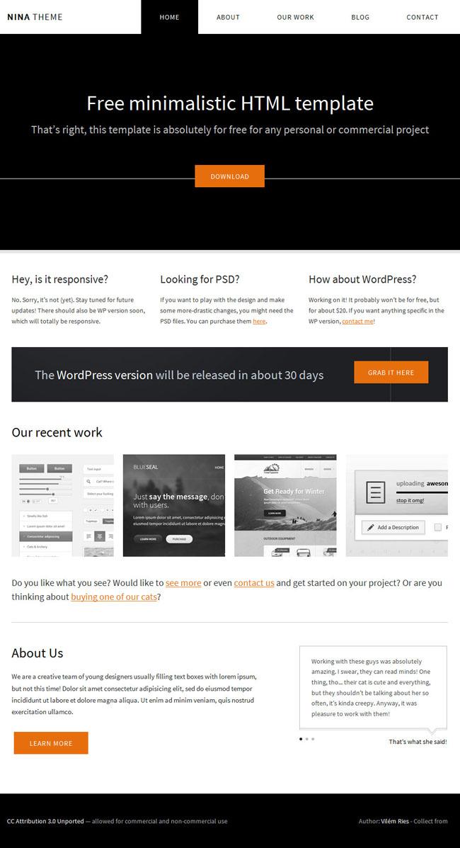 黑色大气html5整站模板 - 源码下载 -六神源码网