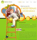 绿色儿童幼儿园学校网站模板 - 源码下载 -六神源码网