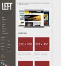 灰色居左html5企业网站模板 - 源码下载 -六神源码网