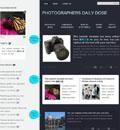 个性纯色双栏摄影网站模板 - 源码下载 -六神源码网