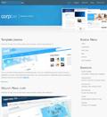蓝色大气企业产品展示模板 - 源码下载 -六神源码网