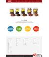 红色美食产品官网响应式模板 - 源码下载 -六神源码网