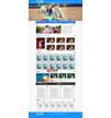 蓝色婚纱摄影工作室网站模板 - 源码下载 -六神源码网