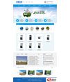 蓝色净水器设备公司网站模板 - 源码下载 -六神源码网